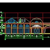 2321平米四层框架结构售楼处建筑图纸