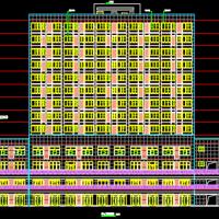 山东17290平米13层带商业公寓楼建筑图纸