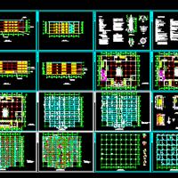 8000平米四层框架结构商场课程设计图