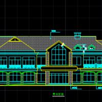 某山庄会馆建筑施工图