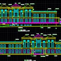 某小区会所建筑施工图(立面漂亮)