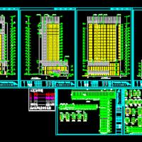 岳阳7092平米房产局交易大楼建筑设计CAD施工图(含地库人防设计)