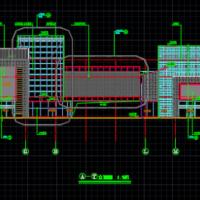 某地U型多层商业楼建筑方案图纸
