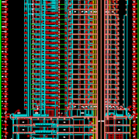 31层高层住宅楼建筑设计施工图(下部商场带地库人防)