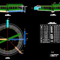 二沉池平面及剖面CAD图纸
