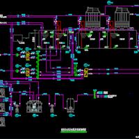 空压机房及水泵房系统流程图