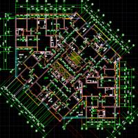 一梯十户高层住宅楼建筑图纸(剪刀梯)