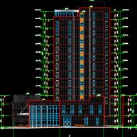 深圳16433平米四星级大洒店全套建筑施工图纸