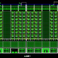 29585平米13层酒店建筑设计图纸(L形)