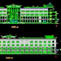 四层带地下层商场建筑施工图纸