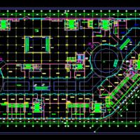 万达商业广场建筑平面图
