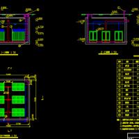 山东某小区中水工程设计CAD图(带说明书)