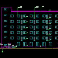 北京5848平米6层框架结构综合楼建结水电暖全套施工图