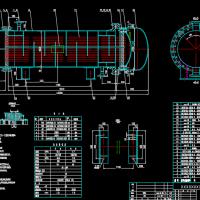 浮头式换热器全套设计图纸(DN600,F35)