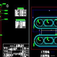 江苏沭阳污水处理厂设计图纸及计算书(课设)