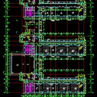 山字形三层框架结构中学教学楼建筑图及结构图