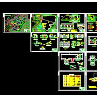 某镇自来水厂及供水管网设计施工图纸