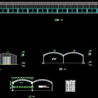 江苏1032平米钢结构高效种植大棚建筑结构全套图