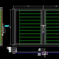 玻璃隔断之玻璃百叶窗CAD节点大样