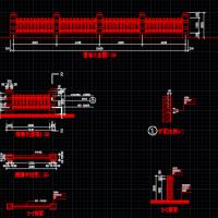 厂区铁艺围墙CAD详图