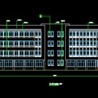 山东5708平米四层框架综合楼设计图纸(建结水电暖图纸、商务标、技术标、计价表)