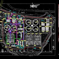 5万吨每天污水厂总平面设计图