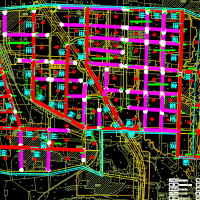 某城市污水处理工程毕业设计图纸(含说明书及计算书)