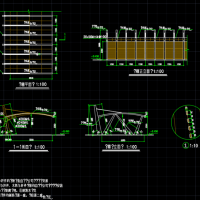 钢结构单悬挑汽车棚设计图纸