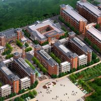 贵州某中学建筑设计全套图(教学楼 办公楼 图书馆 宿舍 风雨操场)