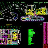PC310液压挖掘机CAD图