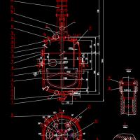 500L搪玻璃反应釜CAD图
