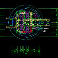 圆形取水泵房的工艺平面图