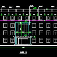 2788平米四层学校综合楼CAD施工图