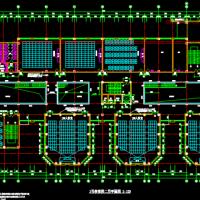 某中学教学楼建施平面方案图