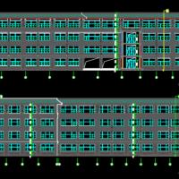 山东聊城6040平米四层小学教学楼建结水电暖全套图纸