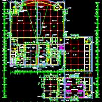 某大学食堂浴室及超市一体楼建筑图纸