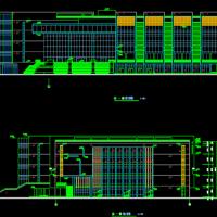 某学院五层图书馆建筑CAD施工图