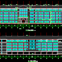 14623平米五层框架结构中实验楼建结水电暖全套图(机械成孔灌注桩)