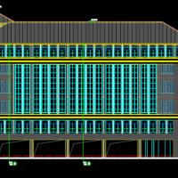 广西66903平米中学图书馆建筑CAD图纸(含报告厅)