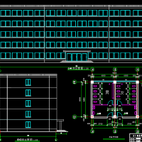 5880平米五层框架结构办公楼毕业设计(计算书、部分建筑、结构图)
