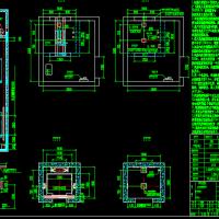 三洋电梯机房井道设计尺寸CAD图