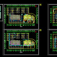 水源热泵机房及地下车库暖通图