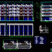 升降横移式立体车库平立面及设计参数CAD图纸