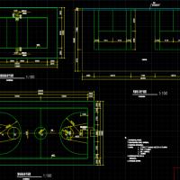 篮球场 排球场和羽毛球施工大样CAD图及详细做法