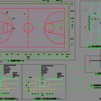 篮球场平面设计CAD施工图