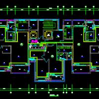 河南2套16层高层住宅暖通设计施工图(一梯三户)
