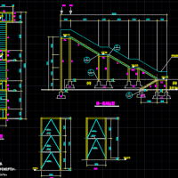 某建筑钢结构楼梯CAD施工图