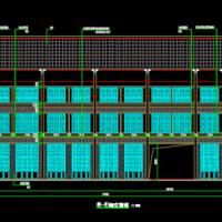 陕西某框架结构农贸市场建筑施工图纸