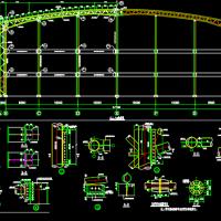 某地30X2米跨度三层钢管桁架结构施工图纸