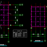 钢结构中空夹胶玻璃采光顶CAD图纸
